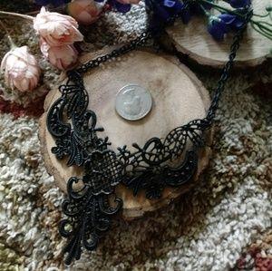 Black Gothic Collar Necklace